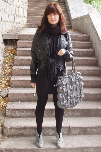 aa dress - H&M jacket - blendshe purse - H&M sweater