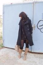 silence and noise dress - Zara coat - Zara boots - Zara accessories