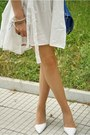 White-asos-dress-blue-asos-bag-nude-celine-sunglasses-white-zara-heels-c