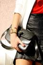 Red-romwe-shirt-black-zara-boots-white-zara-coat-black-romwe-skirt