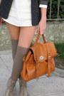 Ivory-zara-dress-black-kookai-blazer-beige-stradivarius-socks-beige-asos-b