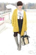 H&M cardigan - Zara boots