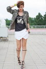 White-zara-shorts-black-zara-top