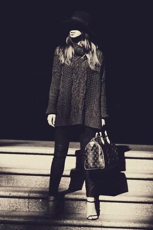 black tony bianco heels - dark brown speedy 30 Louis Vuitton bag