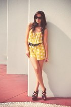 polka dot Vama Style romper - cat-eye Mink Pink glasses