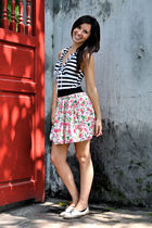 black Ivana and Katerina swimwear - pink skirt - beige Urban Outfitters shoes