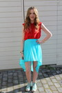 Converse-shoes-red-whitney-port-for-bik-bok-shirt-high-low-h-m-skirt