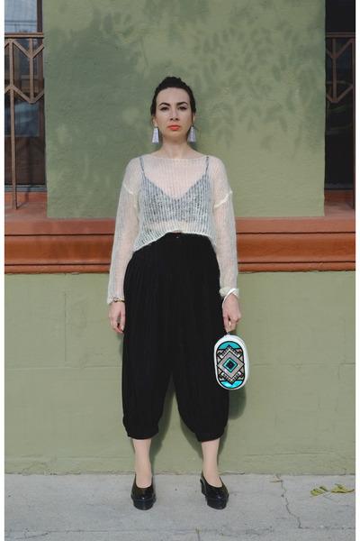 black harem 80s Vintage pants - black flatform Cheap Monday shoes