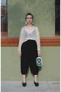 Black-flatform-cheap-monday-shoes-black-harem-80s-vintage-pants