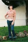 Pink-thrifted-missoni-sweater-pink-forever-21-blouse-blue-karen-walker-jeans