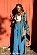 teal palazzo asos pants - lace up Target intimate - Forever21 cape