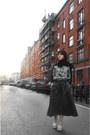 Black-cotton-vintage-scarf-black-future-fabric-sweater