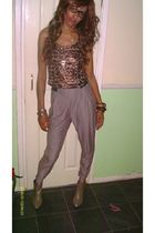 brown River Island vest - silver River Island pants - brown H&M boots