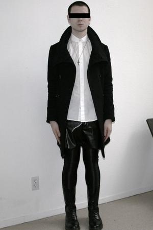 black TV TOKYO coat - white H&M shirt - black Forever 21 shorts - black American