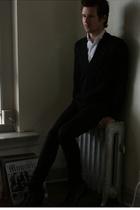 vintage shirt - H&M sweater - lip service jeans - Giorgio Brutini shoes