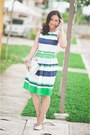 Dress-plains-prints-dress-clutch-bag-janylin-pumps