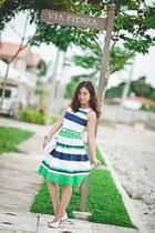 dress Plains & Prints dress - clutch bag - Janylin pumps