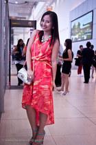 carrot orange mullet dress K by JS dress - orange slim belt sm accessories belt