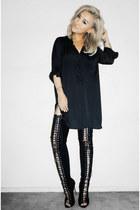 black CRÈME DE LA FAME shirt - black Jessica Buurman boots