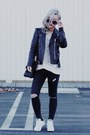 Black-saint-laurent-jacket-heather-gray-grayson-sweater-black-hermes-bag