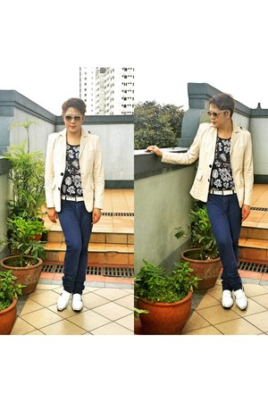 beige cool acne blazer