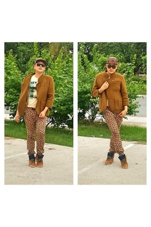 orange tiger print Forever 21 pants