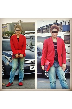 red cool H&M blazer