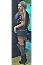 none blouse - none skirt - none boots - mora tights - Studio F scarf