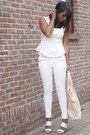 Light-pink-oasap-bag-white-zara-pants-white-zara-blouse