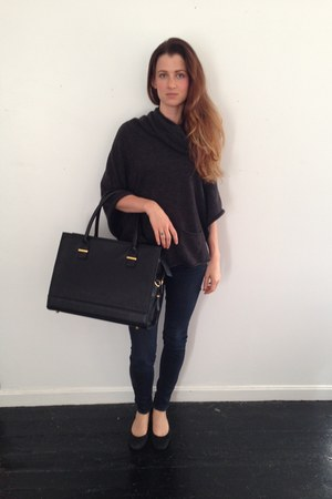 black vegan leather GRACESHIP bag