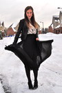 Black-wholesale-dress-skirt-white-forever-21-top-black-h-m-blazer-black-fo