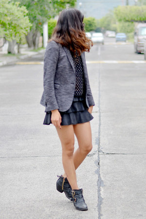 gray Zara blazer - diamonds Zara top