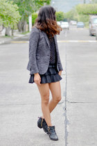 gray Zara blazer - diamonds Zara top