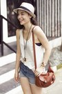 Breiter-hut-und-mode-hat-abercrombie-and-fitch-shorts-forever-21-top