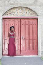 maxi Ebay dress - wide leather LiuJo belt