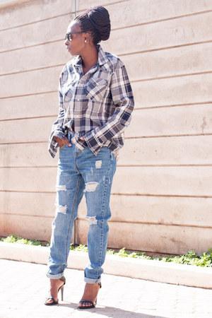 mens Levis shirt - H&M jeans - Zara sandals