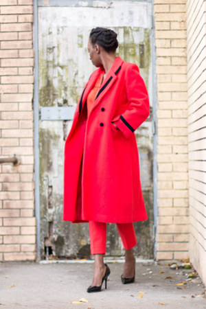 H&M pants - ann taylor blouse - B Brian Atwood heels