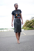 faux leather new look skirt - leopard print Steve Madden pumps