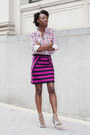 Gingham-forever-21-shirt-marc-by-marc-jacobs-skirt-zara-heels