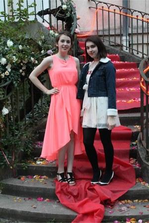 salmon Emamoda dress - black Bocage heels