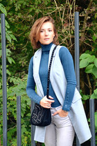 teal Zara sweater - Inuovo boots - silver Gap jeans - black Zara bag