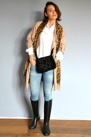 light blue Gap jeans - light pink Promod jacket - white Stradivarius shirt