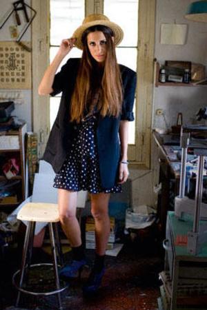 vintage blazer - Linea U-Adolf dominguez ss09 skirt - Office shoes