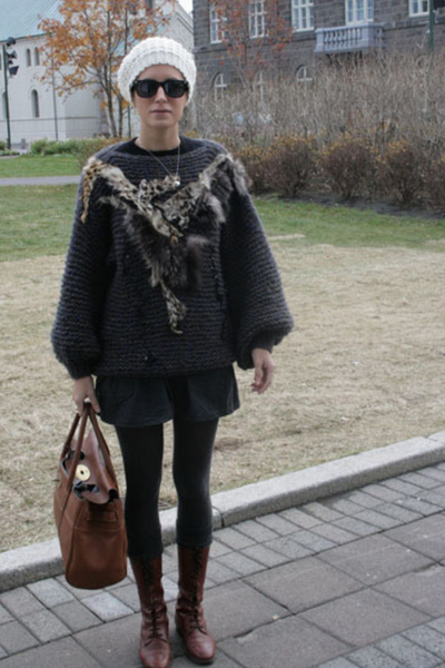 aa skirt - vintage sweater - vintage shoes - Mulberry purse
