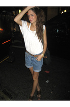 aa top - H&M belt - Urban Outfitters shorts - shoes