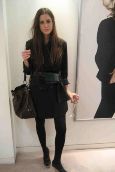 Zara coat - scarf - Prada purse - Adolfo Dominguez shoes