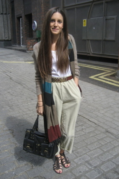 Mulberry purse - Moschino belt - Macys pants - Adolfo Dominguez scarf