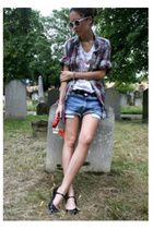 Gap shirt - Levis shorts - MiuMiu shoes