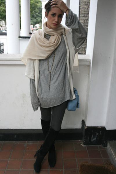 present from India scarf - COS top - Cheap Monday jeans - vintage shoes