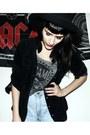 Black-h-m-hat-black-suede-vintage-shirt